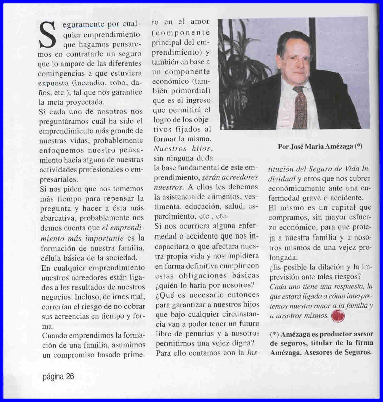 Revista Vida, art. José Amézaga