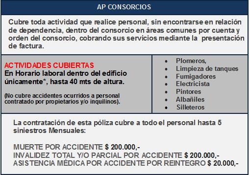 Cobertura Accidentes Personales para Consorcios